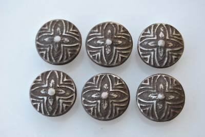 6pcs Vintage Floral Cast Iron cabinet drawer door Knobs handles pull rustic 1.5""