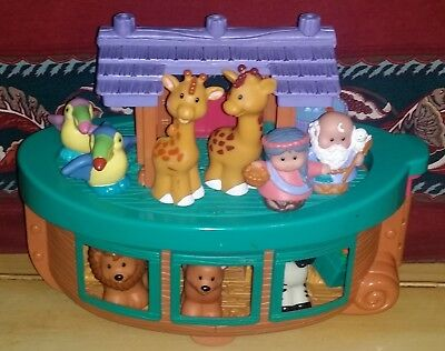 Fisher Price Little People Noah's Ark With Noah & His Wife Plus Animals & Access