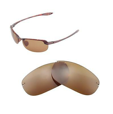 Walleva Polarized Brown Replacement Lenses For Maui Jim Makaha Sunglasses