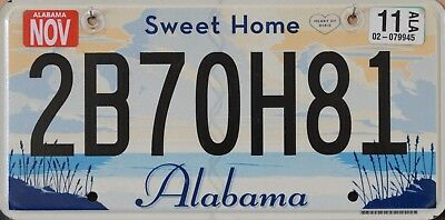 "USA Number Licence Plate ALABAMA ""SWEET HOME""  HEART OF DIXIE FLAT STYLE"