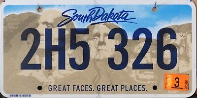 USA Number Licence Plate SOUTH DAKOTA NEWEST DESIGN FLAT