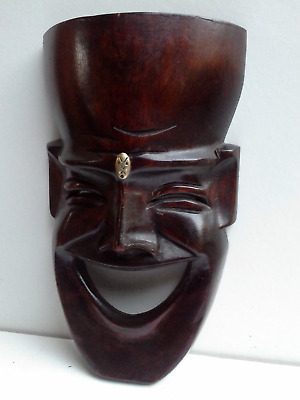 WOODEN MASK - Hand Carved #9