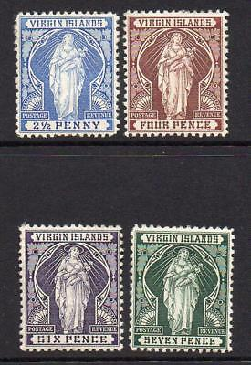 Virgin Islands Four Stamps c1899  Mounted Mint  (s469)
