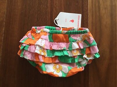 Cute Baby Girls frill ruffle Nappy Cover By Country Road Sz 000 BNWT