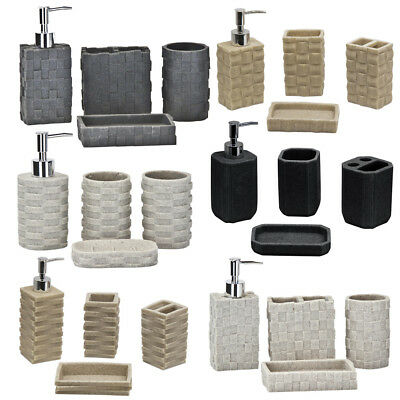 SQ Professional 4 Piece Deluxe Bathroom Accessory Set