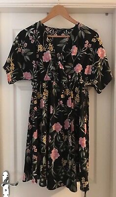 New Look Floral Maternity Dress Size 10