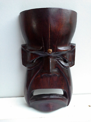 WOODEN MASK - Hand Carved #10