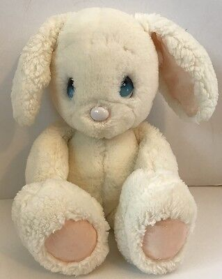 1985 Applause Precious Moments Snowball Bunny Rabbit Plush Blue Eyes