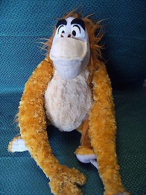 "Disney Store King Louie Monkey The Jungle Book Plush Soft Toy Teddy 17"" approx"