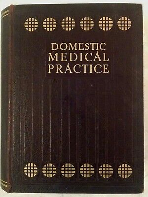 1931 DOMESTIC MEDICAL PRACTICE BOOK, Vintage, Collectible.