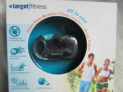 Target Fitness All In One Heart rate Monitor, Step Counter And Music Player