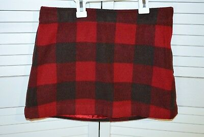 NWT! Gap red and black wool blend plaid lined skirt - 12R - retail $29.50