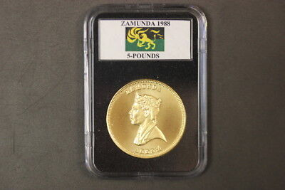 Zamunda 5 Pound Gold Plated Movie Prop Coin