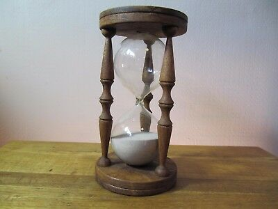 Large Vintage Wood Hour Glass Sand Timer By Raykey.