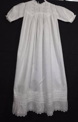 4 Antique Vtg Long Lace White Cotton Baby Christening Gown Petticoats Doll