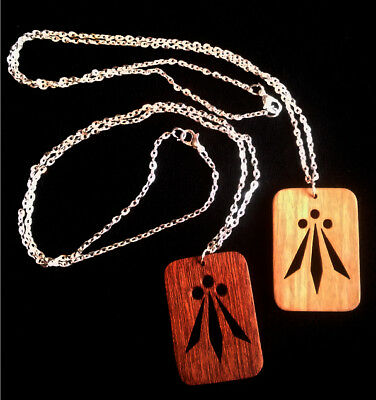 Handmade celtic awen pendant necklace solid hardwood silver handmade celtic awen pendant necklace solid hardwood silver plated chain mozeypictures Gallery