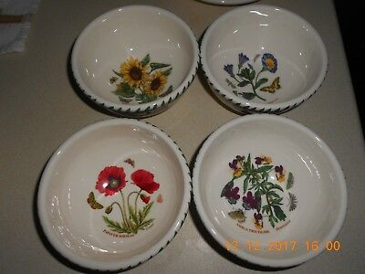 Portmeirion Botanic Garden Set Of 4 Fruit Salad Bowls - 5 Inch