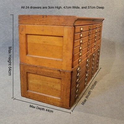 Antique Vintage Shaw Walker 24 drawer map case cabinet very good condition!