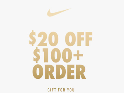 Nike $20 Off $100 Unique Coupon Code Expires 12/21/17