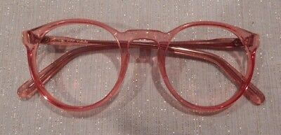 Vintage May Optical P3 Round Keyhole Peach 52/22 Eyeglass Frame New/Old Stock
