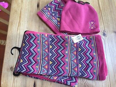 Bnwt Girls Scarf & Two Hats Age 7-13 Years
