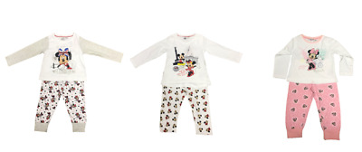 Disney Minnie Mouse Girls Toddler Cotton Amsterdam London Berlin Pyjamas 2 Piece