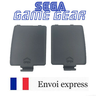 Lot de 2 Cache pile noir GAME GEAR GG neuf [Battery cover left / right] black