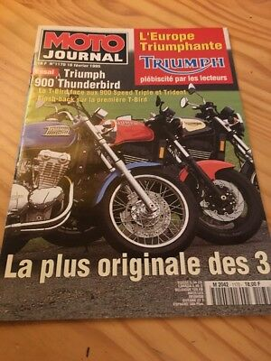 Triumph Thunderbird Speed Triple Trident moto journal  prospectus moto brochure