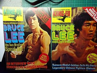 BRUCE LEE Kung Fu Monthly Magazines Numbers 17 & 18