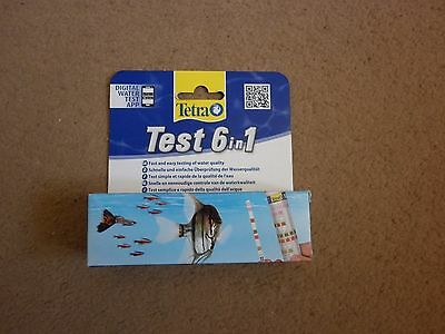 Tetra 6 in 1 Water Testing Strips 25 Pack Test Kit Set PH GH NO2 Tropical Fish