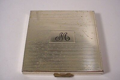 Vintage Dunhill Clearview Sterling Silver Compact Monogrammed  M
