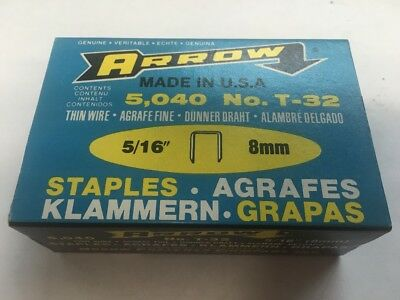 """ARROW T-32 5/16"""" 8mm Thin Wire Staples"""