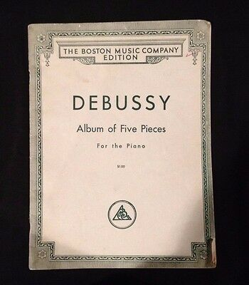 Debussy Album of Five Pieces for Piano Copyright 1914