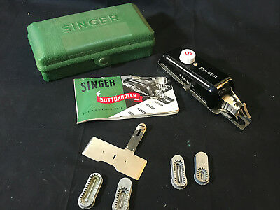 1948 Singer Buttonholder No. 160506 In Box With Manual And Accessories W654351N