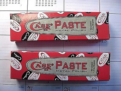 CASE KNIFE POLISHING PASTE / METAL POLISH - NEW ITEM - YOU GET TWO 1.76 oz TUBES