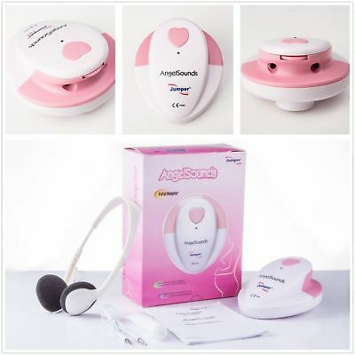 ANGELSOUNDS FETAL DOPPLER BABY HEART BEAT DETECTOR MONITOR with Headphones & Gel