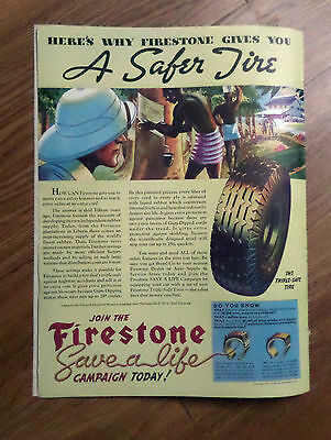 1937 Firestone Tire Ad   A Safer Tire