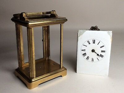 Victorian Solid Brass French Carriage Clock For Repair. Not Fusee Bracket Mantel