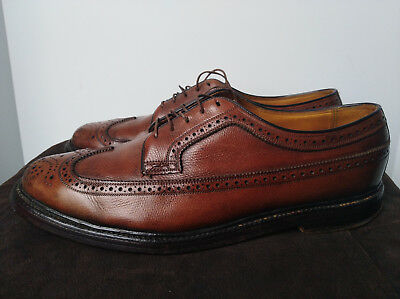 Vintage 70s 80s Mens Florsheim Imperial Longwing Patina V Cleat 10 D Shoes USA