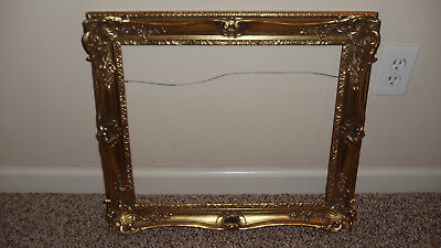 Vintage Reproduction Gold Baroque Style Wood Picture Frame Fits 15 1/2 X 18 1/2