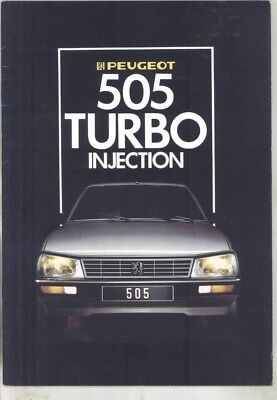 1986 Peugeot 505 Turbo Injection Brochure Spanish wy8862