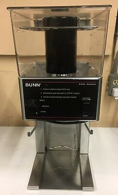 Bunn FPG Adjustable French Press Coffee Grinder Stainless Office Restaurant
