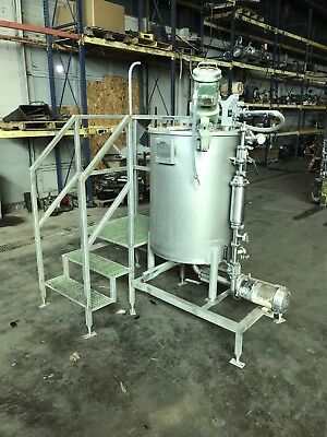 350 Gallon Stainless Steel Tank With Mixer And Pump