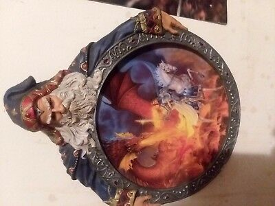 Dragon collectors plate hearts of fire