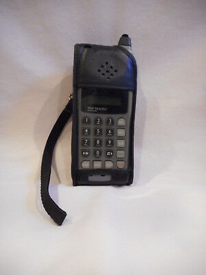 Vintage Motorola TELE TAC  T-A-C 250 Cellular Phone with leather case