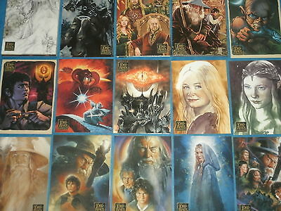 The Lord Of The Rings 'MASTERPIECES II' Base Set Of 72 All-Art Trading Cards
