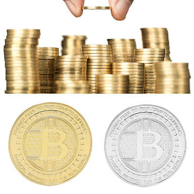 Gold Plated Bitcoin Collectible Gift Silk Road BTC Coin Art Collection Physical