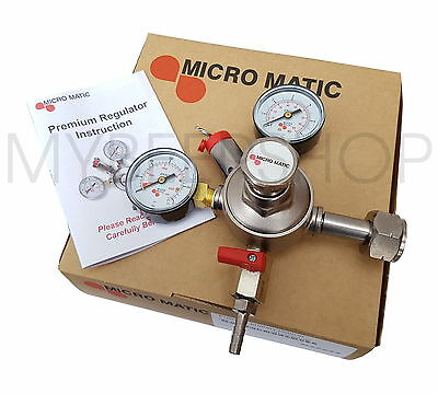 New! Micromatic Co2 Premium Regulator Carbon Dioxide Gas Home Brew Beer Aquarium