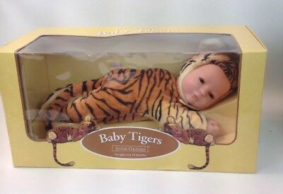 RARE! EYES OPEN Anne Geddes Baby Tigers #526651 Stuffed Plush Baby Tigers 2000.