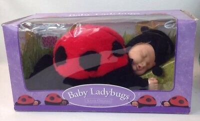 """Anne Geddes 15"""" Baby Ladybugs Doll Unimax Toys Limited 1998 New In Box"""